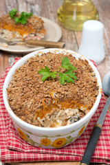 Gratin with fish and pumpkin