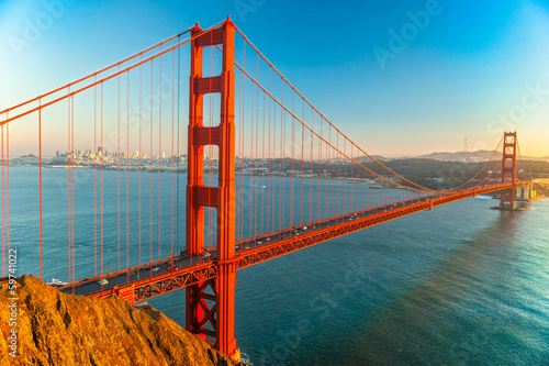 Staande foto Bruggen Golden Gate, San Francisco, California, USA.