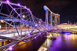 The Helix bridge with Marina Bay Sands in background - 59741273