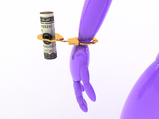 Man with money in handcuffs #3