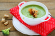 fragrant green soup cream soup