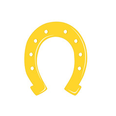 Gold horseshoe - vector illustration.
