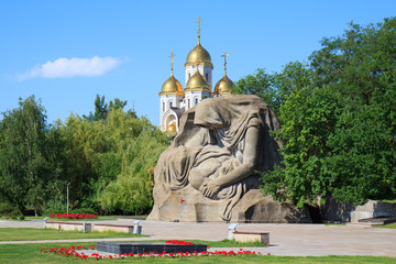 Monument Mothers sorrow in Mamaev Kurgan, Volgograd, Russia