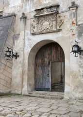 Entrance to the Olesko Castle