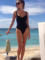 young woman bikini