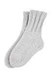 Gray wool socks isolated