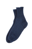 Blue wool socks isolated