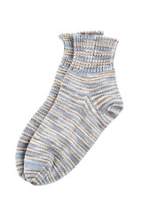 Multicolor wool socks isolated
