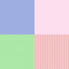 Set of seamless pattern mosaic