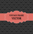 Seamless texture vintage pattern and frame for text