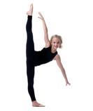Image of flexible little girl doing vertical split