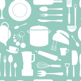 Kitchen seamless pattern