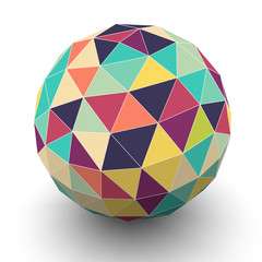 Sphere with triangular faces, vector