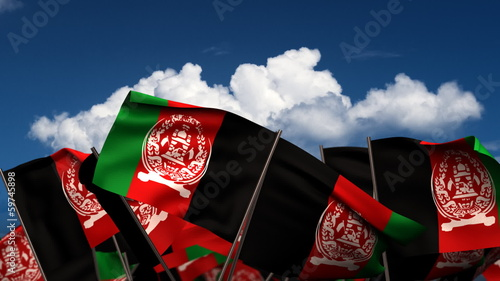 Waving Afghan Flags
