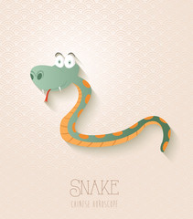 Chinese zodiac set Year of the Snake