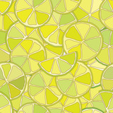 fresh lime citrus seamless pattern added to swatches