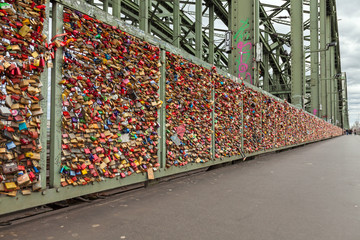 Lockers on the Hohenzollern Bridge in Cologne