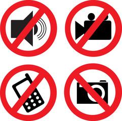 Запрещающие иконки