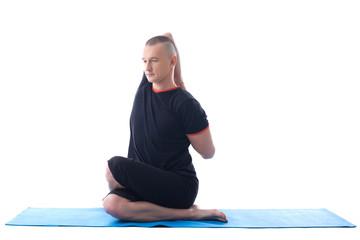 Image of yoga instructor posing in studio