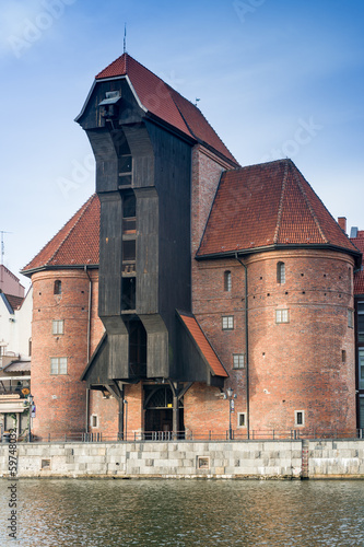The historical crane in Gdansk, Poland
