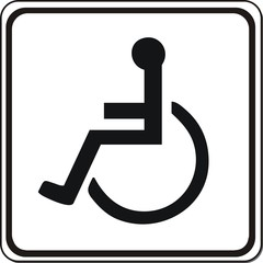 panneau handicap