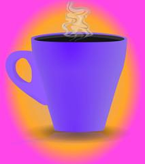 Tazzina caffè viola