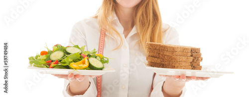 Woman with diet