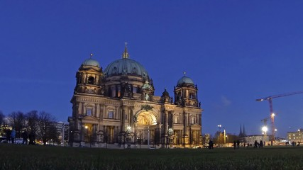 Berlin Cathedral (Berliner Dom) at evening, Berlin, Germany