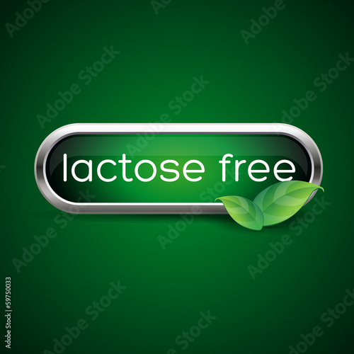 Lactose Free food label or badge