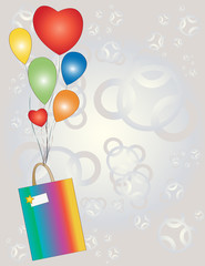 Gift with balloons