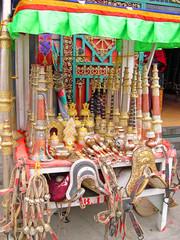 Lhasa, horse brackets vendor in Barkhor Street