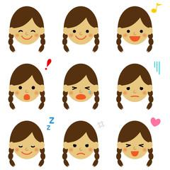 子供 表情セット / vector eps