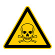 canvas print picture - symbol for poison and toxic german totenkopf