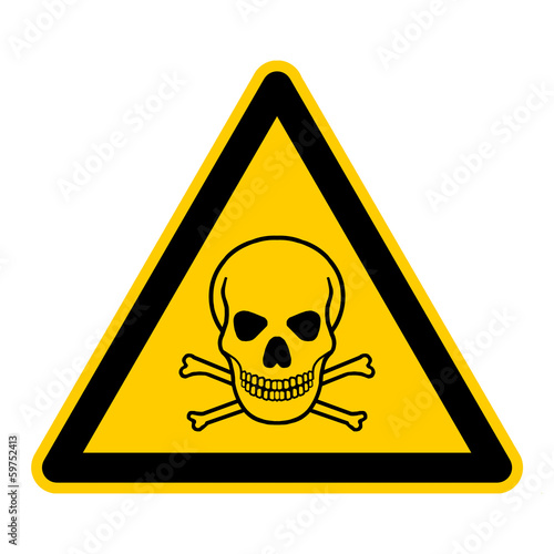 canvas print picture symbol for poison and toxic german totenkopf