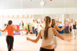 Leinwandbild Motiv Dance class for women