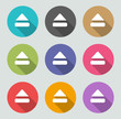 Eject icon - Flat designs