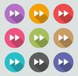 Next / Forward icon - Flat designs