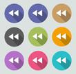 Previous / rewind icon - Flat designs