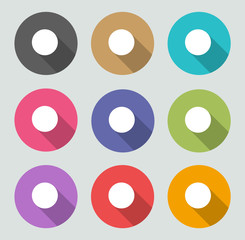 Record icon - Flat designs