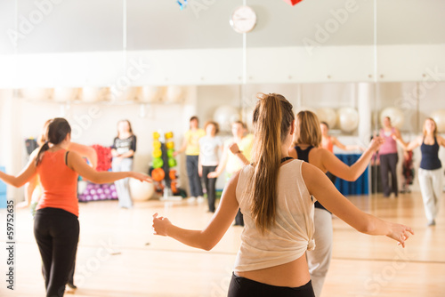 Fotobehang Gymnastiek Dance class for women