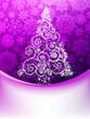 Christmas Tree, Greeting Card. EPS 10