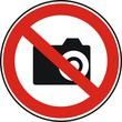 panneau interdit de photographier