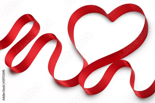 Red ribbon heart