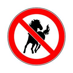 symbol schild achtung kein durchgang für pferde