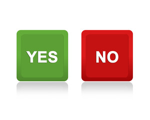 buttons with yes and no