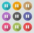 Pause icon - Flat designs