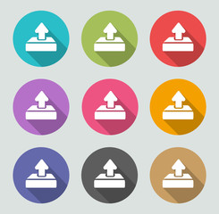Upload icon - Flat designs