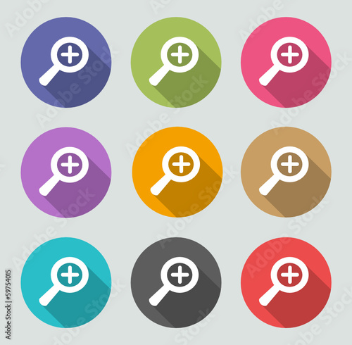 Zoom in icon - Flat designs
