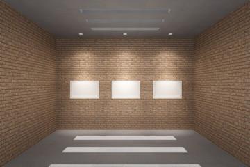 Empty room & Blank poster