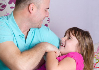 Close relationship between father and daughter